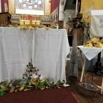 Nave Altar and flower displays ready
