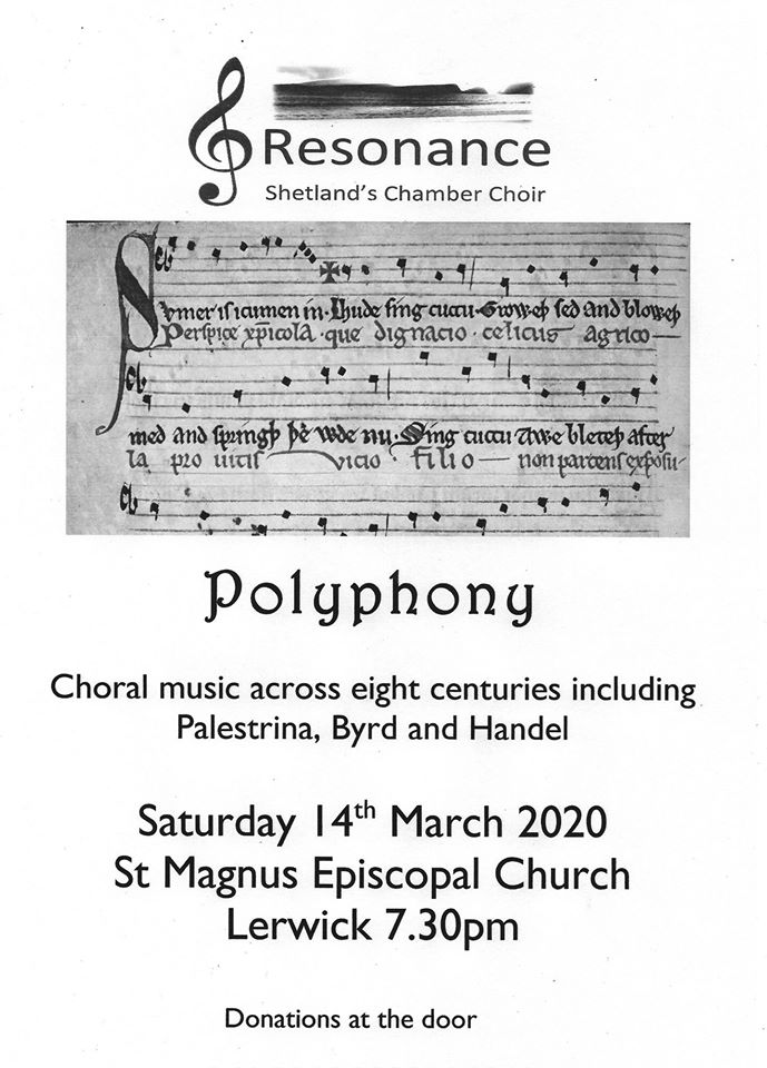 Resonance Concert – 'Polyphony' – Saturday 14th March